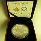 2014 Proof $15 Chinese History Traditions #4-Maple Longevity Canada .9999 silver fifteen long life