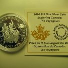 2014 Proof $15 Exploring Canada #1-Voyageurs Voyageur fifteen dollars COIN&COA ONLY .9999 silver