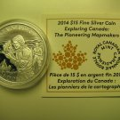 2014 Proof $15 Exploring Canada #6-Pioneering Mapmakers COIN&COA ONLY fifteen dollars .9999 silver