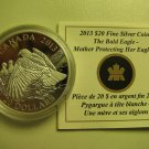 2013 Proof $20 Bald Eagle #4-Mother Protecting her Eaglets Canada COIN&COA ONLY .9999 silver twenty