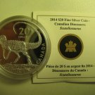 2014 Proof $20 Dinosaurs of Canada #2-Scutellosaurus COIN&COA ONLY .9999 silver twenty dollars