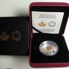 2015 Proof $20 Flora&Fauna #4-Turtle Broadleaf Arrowhead Murano Venetian Glass Canada .9999 silver