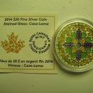 2014 Proof $20 Stained Glass #2-Casa Loma Canada COIN&COA ONLY .9999 silver twenty dollars