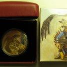 2014 Proof $20 Legend Nanaboozhoo .9999 silver w/ gold plate Canada twenty dollars