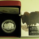 2014 Proof $20 The Bison #3-The Bull and His Mate Canada .9999 silver twenty dollars