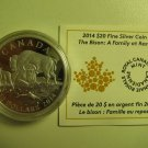 2014 Proof $20 The Bison #4-A Family at Rest Canada COIN&COA ONLY .9999 silver twenty dollars