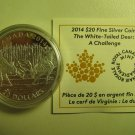 2014 Proof $20 White-Tailed Deer #2-Challenge COIN&COA ONLY Canada .9999 silver twenty