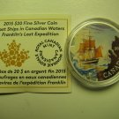 2015 Proof $20 Lost Ships #3-Franklin's Expedition Canada COIN&COA ONLY .9999 silver twenty