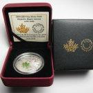 2014 Proof $20 Overlaid Majestic Maple Leaves #3 Jade Insert Canada .9999 silver twenty