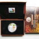 2015 Proof $20 Baby Animals #6-White-tailed Deer Fawn Coin&Stamp set Canada .9999 silver twenty