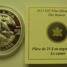 2013 Proof $25 O Canada #1-Beaver 1oz .9999 silver COIN&COA ONLY