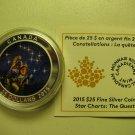 2015 Proof $25 Star Charts #1-Quest GITD .9999 silver COIN&COA ONLY twenty-five