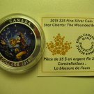 2015 Proof $25 Star Charts #2-Wounded Bear GITD .9999 silver COIN&COA ONLY twenty-five