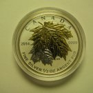 2014 Proof $4 Gold Plated Maple Leaves SML from fractional set 1/2oz .9999 silver maple leaf