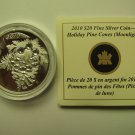 2010 Proof $20 Holiday #3-Pine Cones Moonlight crystals COIN&COA ONLY Canada .9999 silver pinecone