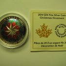 HALF PRICE 2014 Proof $25 Christmas Ornament Canada COIN&COA ONLY .9999 silver twenty-five