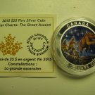 2015 Proof $25 Star Charts #3-The Great Ascent GITD .9999 silver COIN&COA ONLY twenty-five