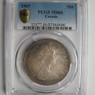 1967 PCGS MS66 $1 Canada one dollar silver Centennial Goose TOP GRADE REGISTRY 83964696