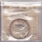 1904H ICCS MS63 50 cents Planchet Flaw Newfoundland NFLD NF fifty silver half dollar VH 898
