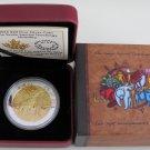 2014 Proof $20 Seven Sacred Teachings #6-Humility Wolf Canada .9999 silver twenty dollars
