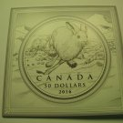 2016 Matte Proof $50 for $50 Hare 1/2oz .9999 silver Canada w/ card