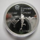 1975 Proof $5 1976 Montreal Olympics #14-Marathon COIN ONLY Canada .925 silver five dollars