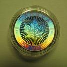 2003 Bullion $3 15th Ann SML Hologram from fractional set 1/4oz .9999 Silver Maple Leaf Canada
