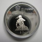 1974 Proof $5 1976 Montreal Olympics #10-Canoeing COIN ONLY Canada .925 silver five dollars