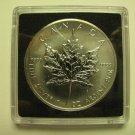 1990 Bullion $5 1 oz .9999 Silver Maple Leaf SML Canada five dollars