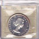 1954 ICCS PL66 $1 CAMEO Canada one dollar silver Mintage just 3,000 XTM 594