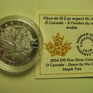 2014 Proof $10 O Canada #5-Down By The Old Maple Tree COIN&COA ONLY .9999 silver ten dollars