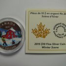 2015 Proof $10 Winter Scene COIN&COA ONLY Canada .9999 silver ten dollars