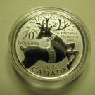 2012 Specimen $20 for $20 #6-Magical Reindeer Canada .9999 silver COIN ONLY twenty dollars
