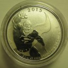 2015 Specimen $20 for $20 #18-DC Comics Superman Canada .9999 silver COIN ONLY twenty dollars