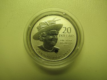 2012 Specimen $20 for $20 #4-Queen Diamond Jubilee Canada .9999 silver COIN ONLY twenty dollars