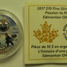 2017 Matte Proof $10 NHL Passion to Play Edmonton Oilers COIN&COA ONLY Canada hockey .9999 silver