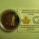 2014 Proof $20 Seven Sacred Teachings #3-Courage Bear COIN&COA ONLY Canada .9999 silver twenty