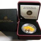 2012 Proof $20 Crystal Raindrop #5-Sugar Maple Leaf Canada .9999 silver twenty