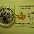 2014 Proof $10 Ducks of Canada #4-Harlequin Duck .9999 silver COIN&COA ONLY