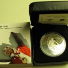 2007 Proof $25 2010 Vancouver Olympics #5-Alpine Skiing Canada .925 silver