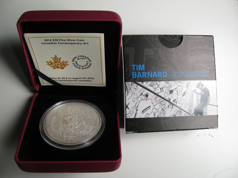 2014 Proof $30 Contemporary Art-Canada Through the Eyes of Tim Barnard 2oz .9999 silver