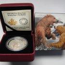 2016 Proof $20 Grizzly Bear #4-The Battle Canada .9999 silver twenty