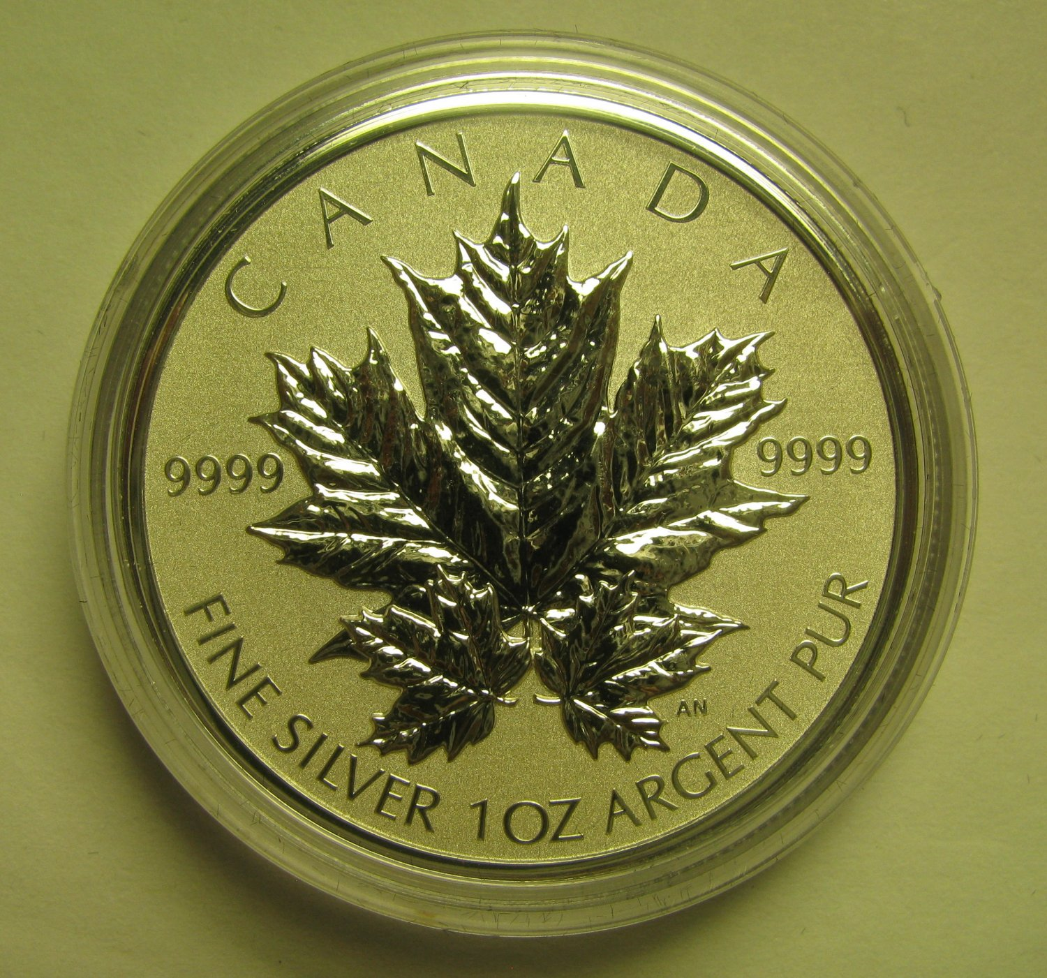 1988-2013 Reverse Proof $5 25th Ann SML from fractional set Canada 1oz .9999 silver maple leaf