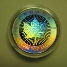 2003 Bullion $5 15th Ann SML Hologram from fractional set 1oz .9999 Silver Maple Leaf Canada
