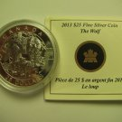 2013 Proof $25 O Canada #3-Wolf Wolves 1oz .9999 silver COIN&COA ONLY