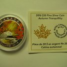 2016 Proof $20 Autumn #4-Tranquility Canada .9999 silver COIN&COA ONLY twenty dollars
