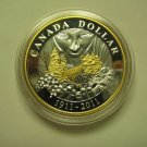 2011 Proof $1 100th Ann Parks Canada .925 Silver Dollar gold plate COIN ONLY from set Canada
