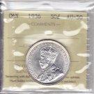 1936 ICCS AU50 50 cents Canada fifty half dollar silver