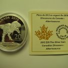 2015 Proof $20 Dinosaurs of Canada #4-Albertosaurus COIN&COA ONLY .9999 silver twenty dollars