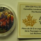 2016 Proof $20 Landscapes #1-Rockies COIN&COA ONLY Canada .9999 silver twenty dollars